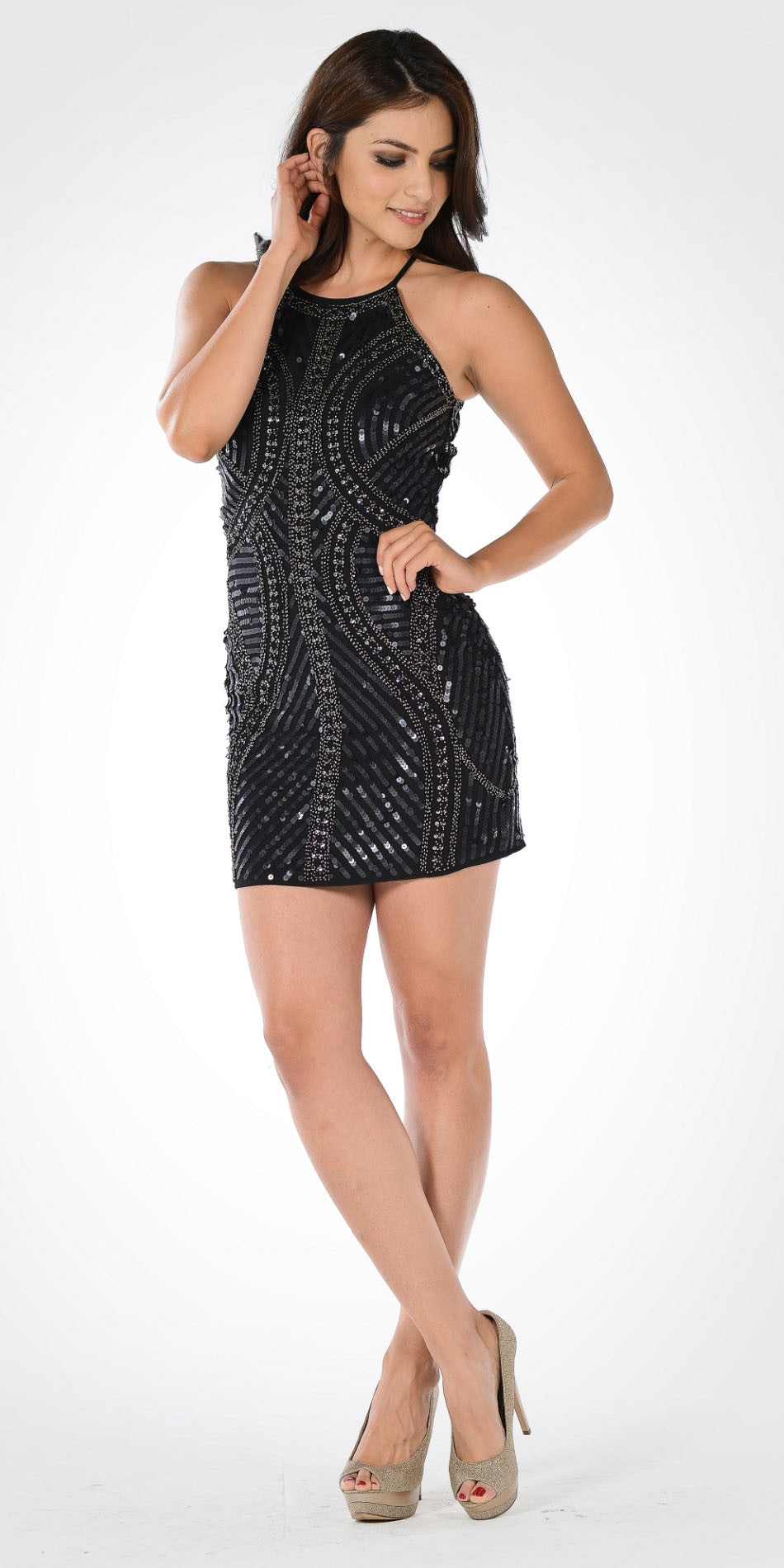 Short Fitted Party Dress