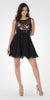 Black Illusion Pink Embroidered Bodice A-line Homecoming Dress Short