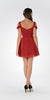Strappy Shoulder Empire Waist Short Cocktail Dress Burgundy