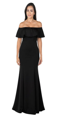 Black Off-the-Shoulder Mermaid Long Formal Dress