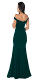 Green Off-the-Shoulder Mermaid Long Prom Dress