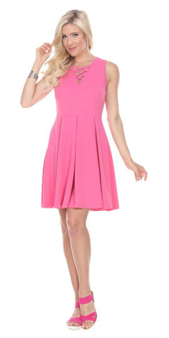 Chiffon Semi Formal Fuchsia Dress Long Empire Rhinestone Waist