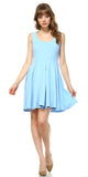 Crystal Fit/Flair Skater Dress Baby Blue Short Scoop Neck