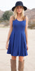 Crystal Fit/Flair Skater Dress Royal Short Scoop Neck Cowboy View