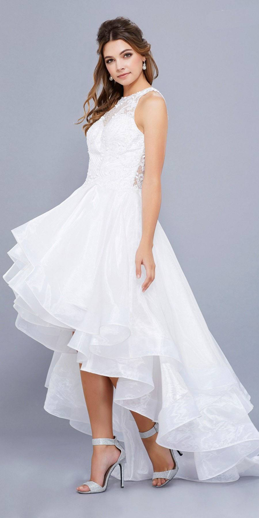 High Low White Dress