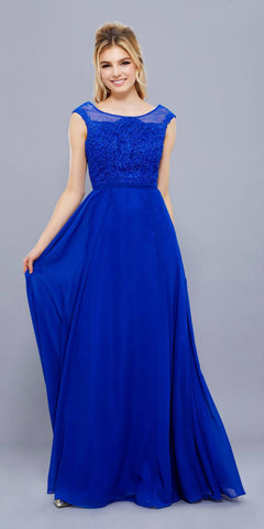 Turkish Bazaar Gown Navy Blue Embroidery Floor Length Classy