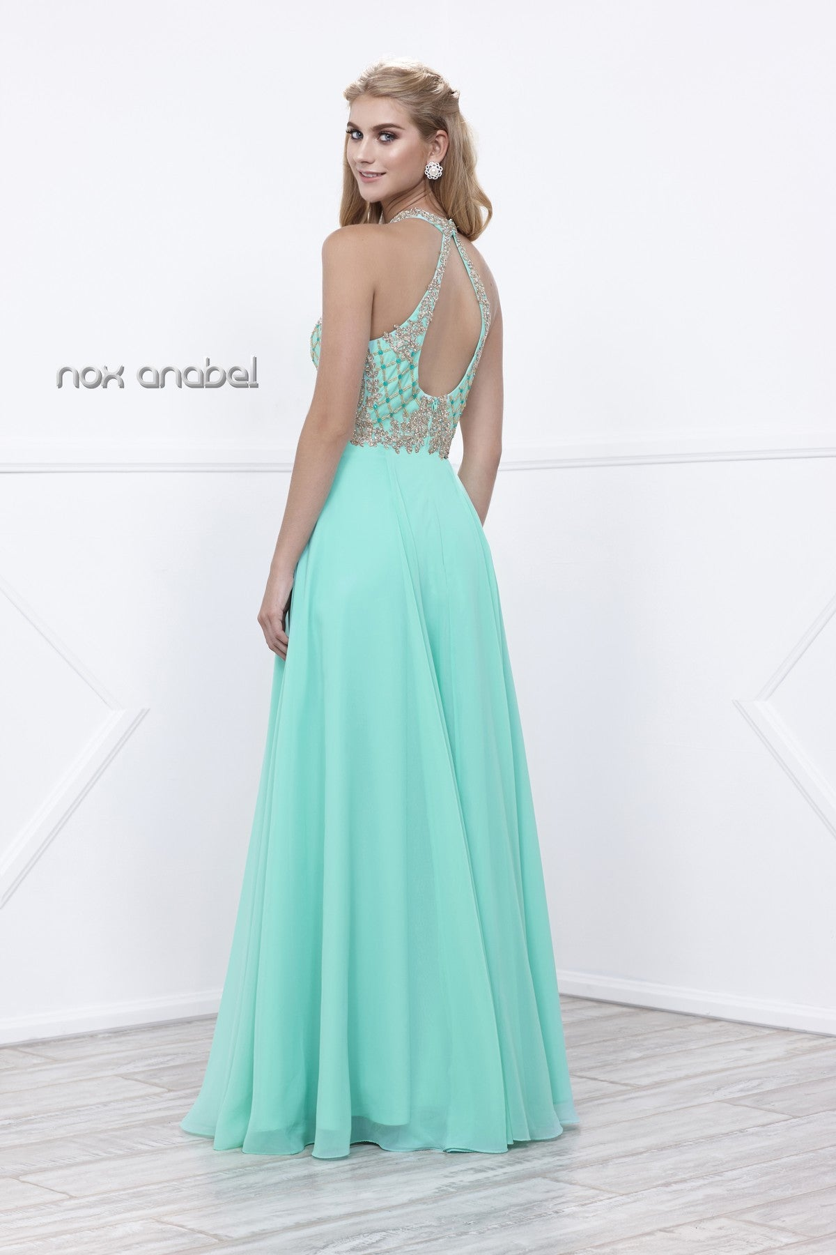 Nude/Gold A-line Long Prom Dress with Sweetheart Cut-Out Neckline ...