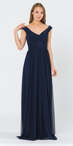 Royal Blue Long Formal Dress Cut-Out Back with Slit