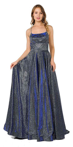 Champagne A-line Long Formal Dress Ruched Bodice