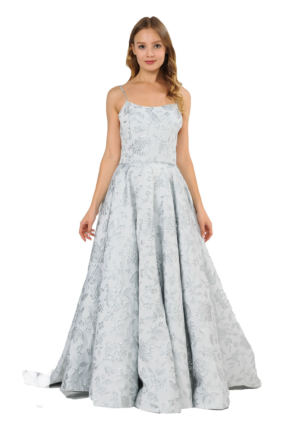 Formal Dresses Straps with Silver