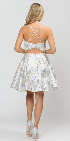 A-Line Homecoming Short Dress Baby Blue with Pockets