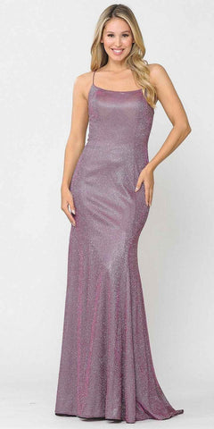 Misty Lilac Appliqued Homecoming Short Dress Cut-Out Back