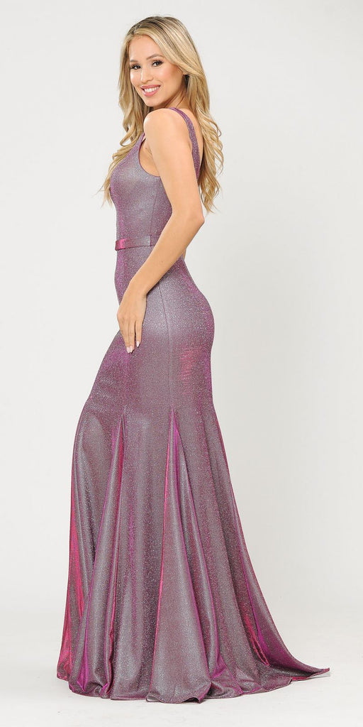 Poly USA 8704 Magenta Mermaid Style Long Prom Dress Sleeveless