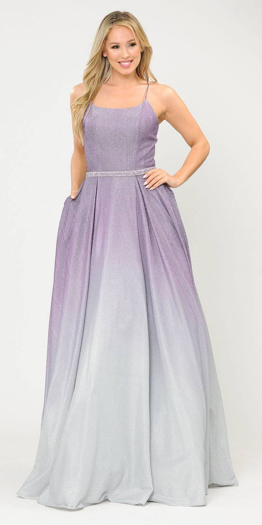 Poly USA 8708 Prom Ball Gown Criss-Cross Back with Pockets Lavender