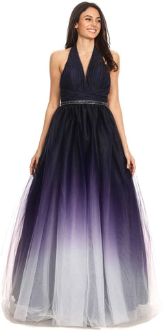 Ruffled Cold-Shoulder Long Bridesmaids Dress Mauve