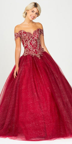 V-Neck and Back Red Long Prom Dress with Pockets