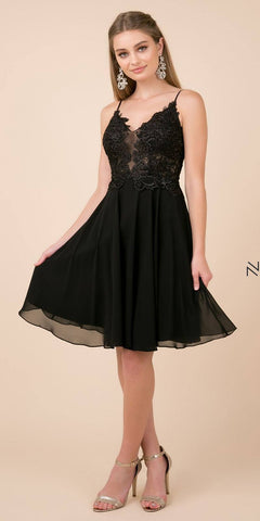 Mid-Length Sleeve Charcoal Long Formal Dress V-Neck