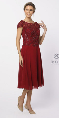 Illusion Sweetheart Evening Dress Long Red Chiffon