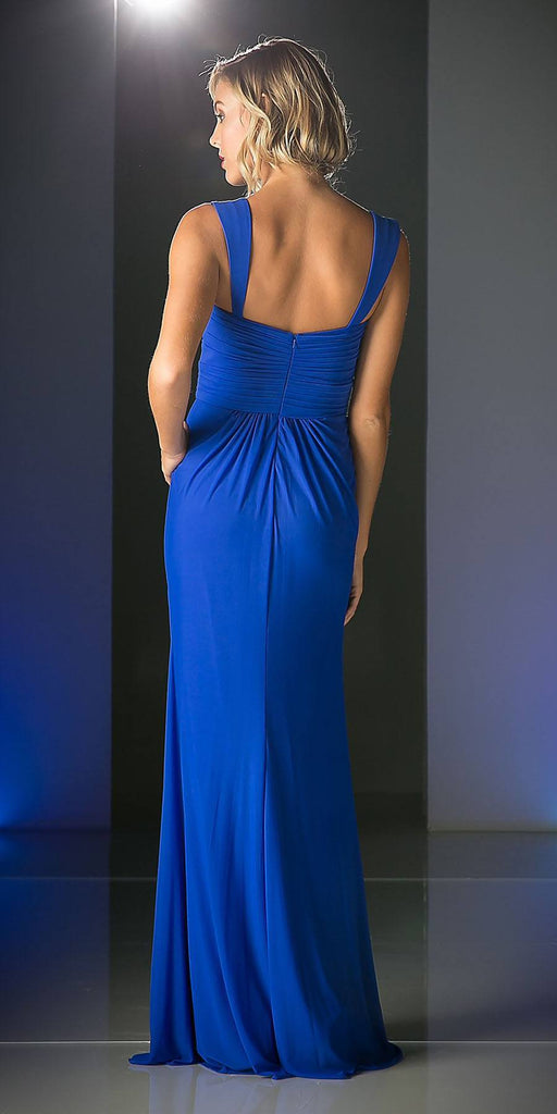 Wide Shoulder Strap Sweetheart Evening Dress Sky Blue