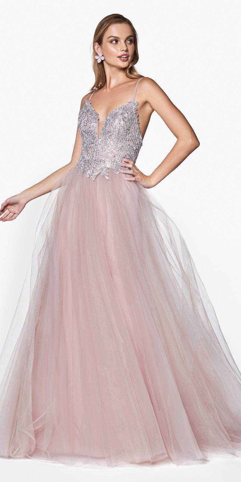Criss Cross Tulle Dress