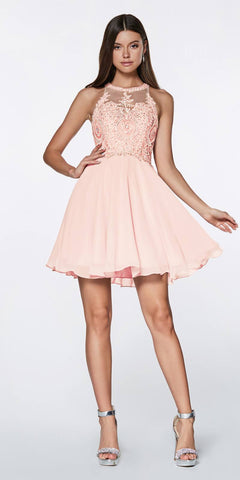 Flowy Chiffon Empire Waist Dress Full Length Dress Hot Pink
