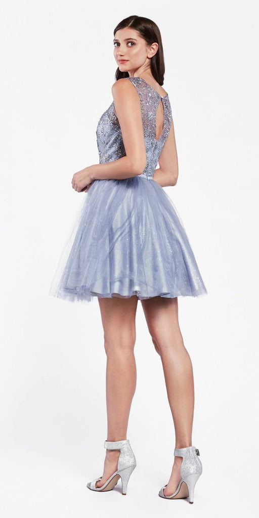 Cinderella Divine CD20 Glitter  Embellished Homecoming Short Dress Midnight