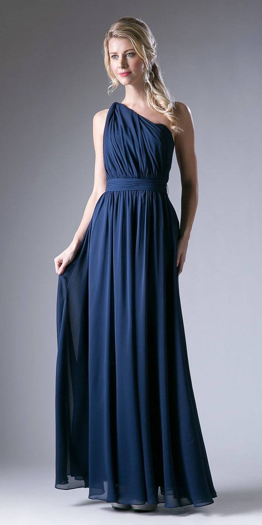 Cinderella Divine CF055 Convertible Long Evening Dress Navy Blue A Line Multiple Styles - DiscountDressShop