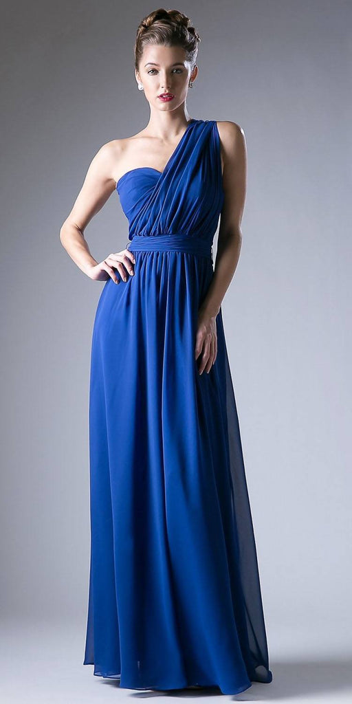 Cinderella Divine CF055 Convertible Long Evening Dress Royal Blue A Line Multiple Styles - DiscountDressShop