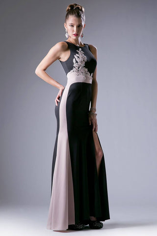 Black Fitted Long Mermaid Prom Dress with Slit