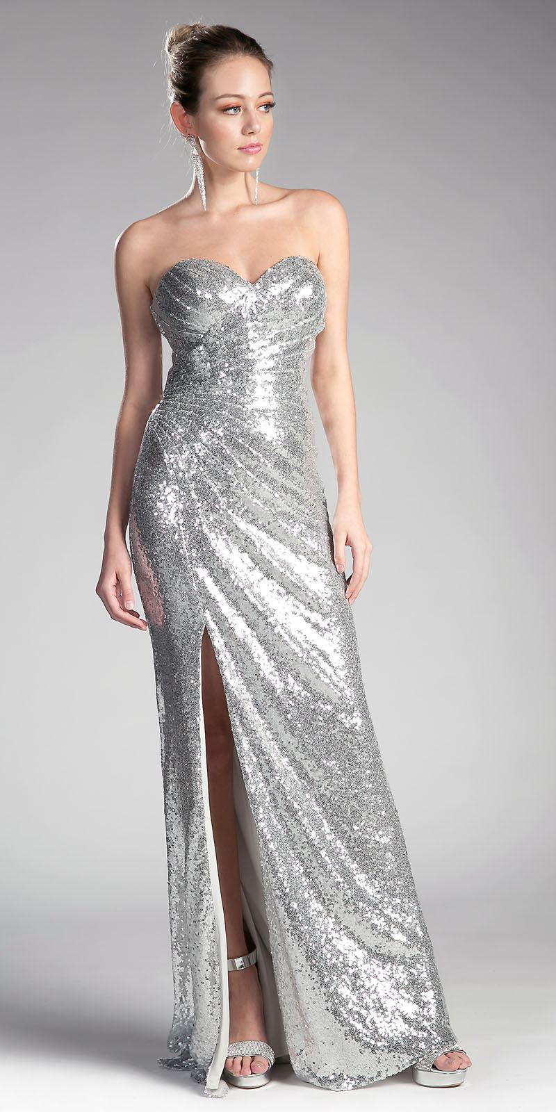 33cf73445529e ... Champagne Sequins Strapless Long Prom Dress Sweetheart Neckline Silver  Sequins Strapless Long Prom Dress Sweetheart Neckline Silver Cinderella  Divine ...