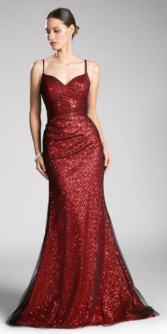 Starbox USA L6423 Burgundy Embellished Waist Ruched Long Formal Dress