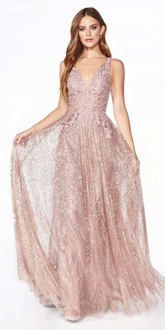 Long Fitted Sequin Gown Opal Violet Open Lace Up Back Leg Slit