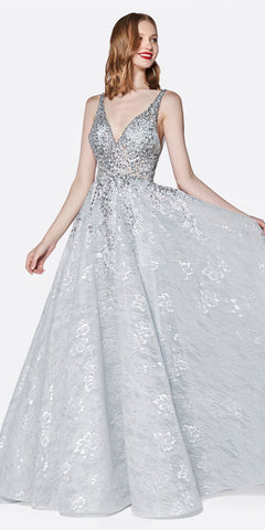 Ball Gown Style Prom Dress Champagne Floor Length Removable Bow