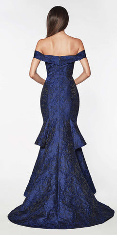 Cinderella Divine Black Label CK849 Navy Blue Dress Full Length