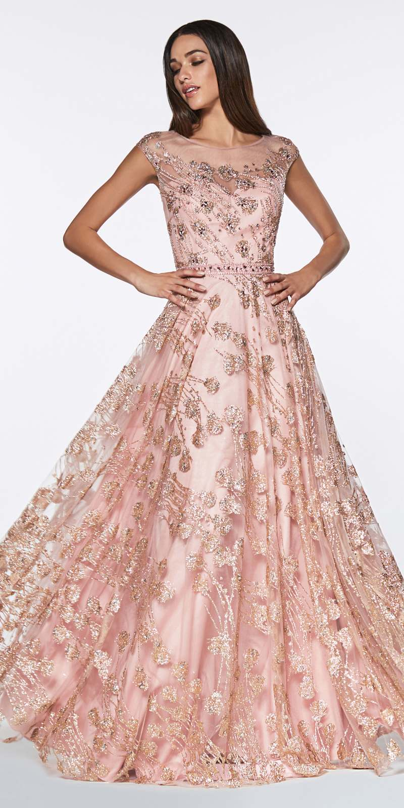 83ee976aeb4 Long Sleeve Rose Gold Sparkly Dress - Data Dynamic AG