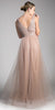 Cinderella Divine CT0040 Mauve A-line Long Formal Dress Ruched Bodice Back View