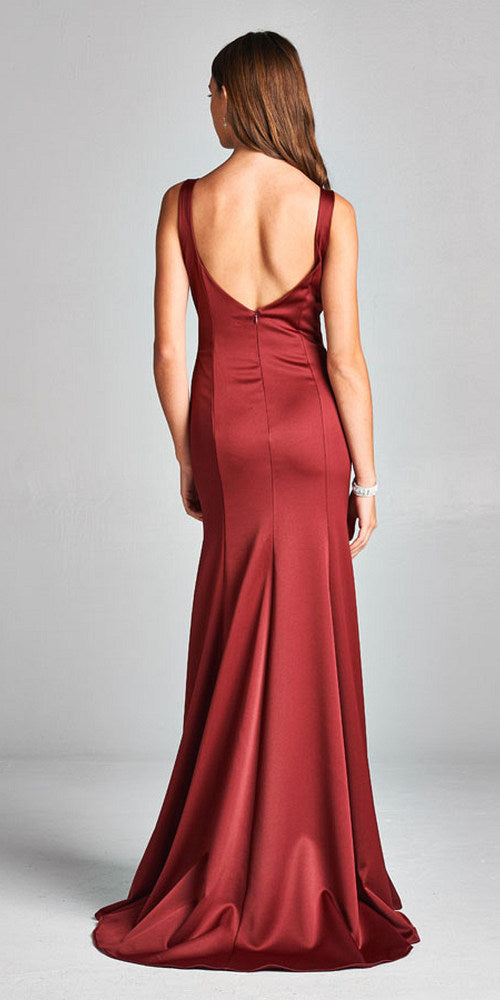 Aspeed USA D117 Sweetheart Neck Mermaid Long Formal Dress Burgundy