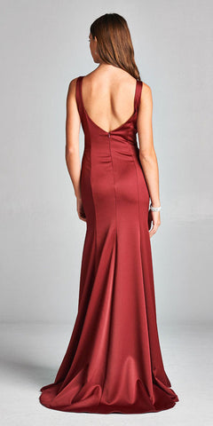 Sweetheart Neck Mermaid Long Formal Dress Burgundy
