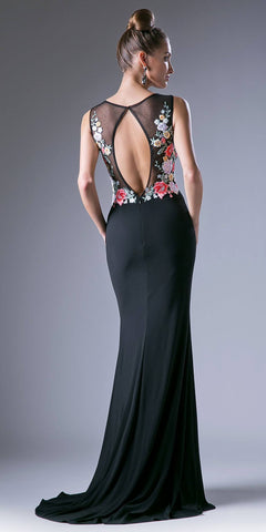 Cut-Out Back Sleeveless Long Formal Dress