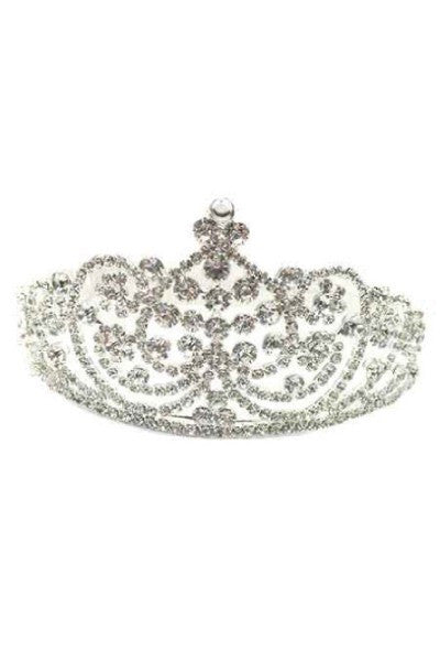 J029 - Tiara Crown - DiscountDressShop