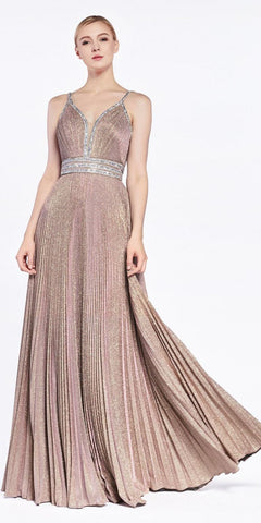 Fitted Glitter Sparkle Ruched Gown Purple/Burgundy With Leg Slit And V-Neckline
