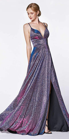 Purple Strapless Sweetheart Long Formal Dress Embroidered