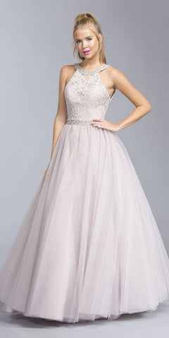 Tulle Poofy Skirt A Line Champagne Homecoming Dress Strapless