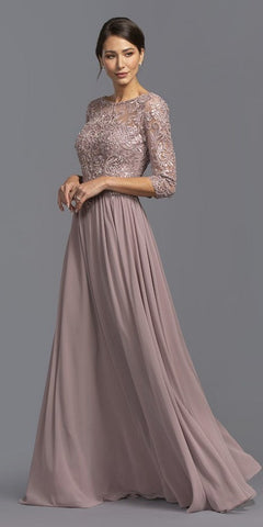 V Neck Jade Mother of Groom Dress Long Lace