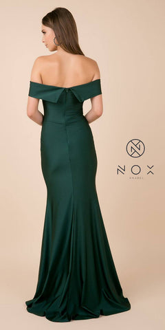 Green Off-Shoulder Mermaid Long Prom Dress