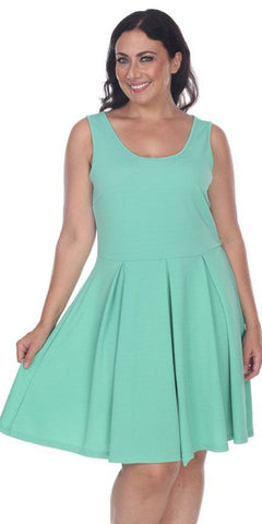 Deep V-Neck Turquoise Fit and Flare Homecoming Dress