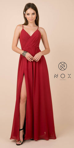 Long Formal Evening Dress Peach Sleeveless Lace Bateau Neckline