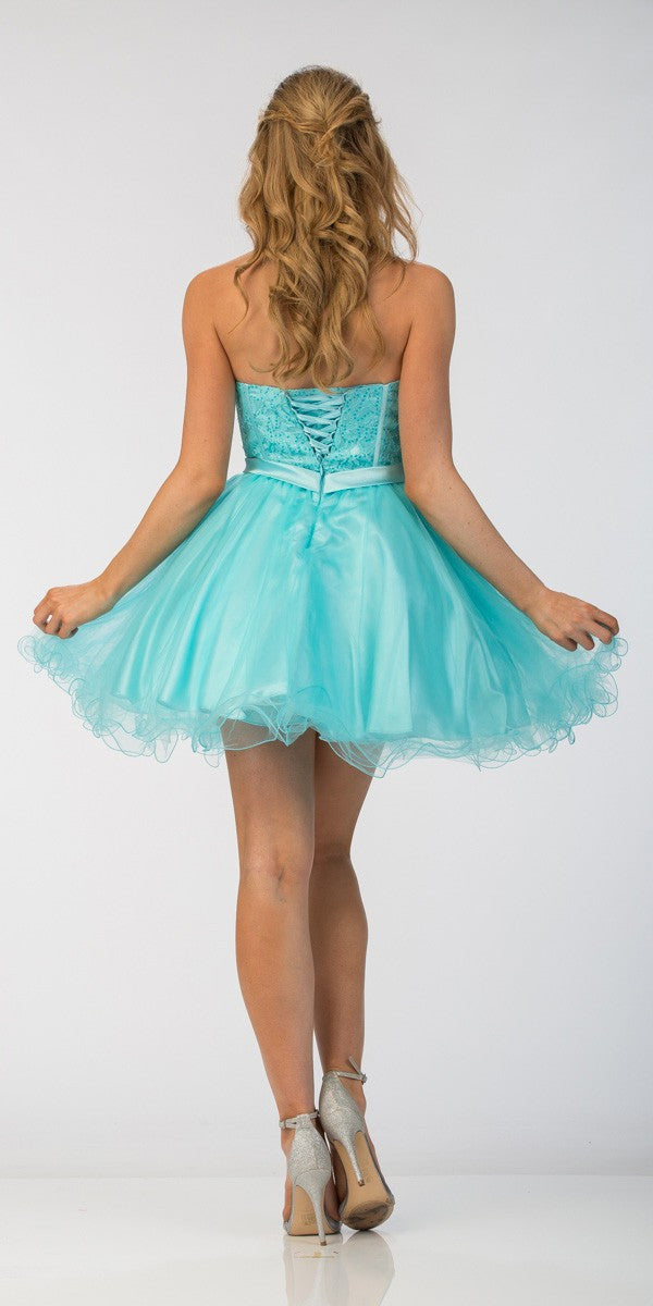 Homecoming Dresses Lace Up Back 110