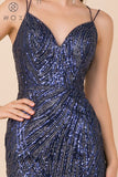Navy Blue Homecoming Short Dress with Strappy Open Back