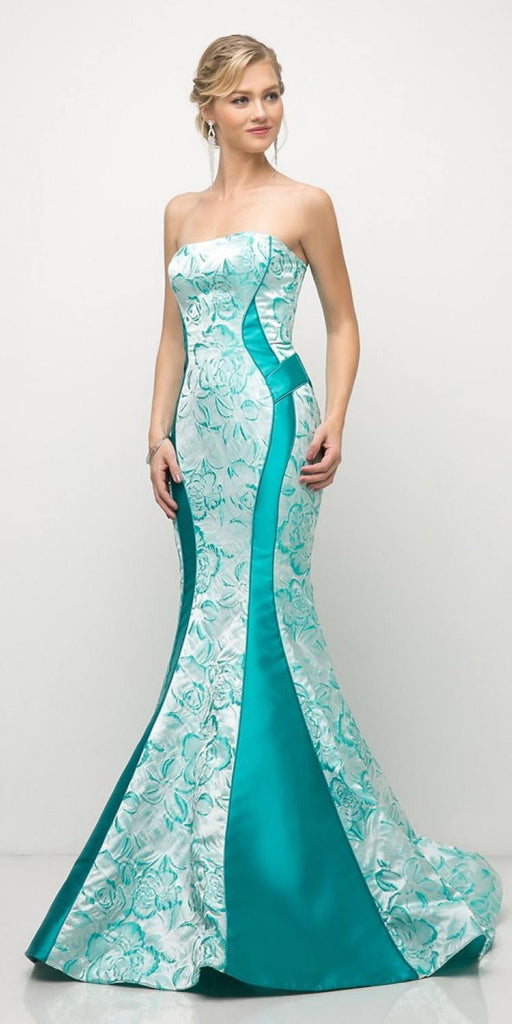Stylish Mermaid Long Prom Dress Strapless Green